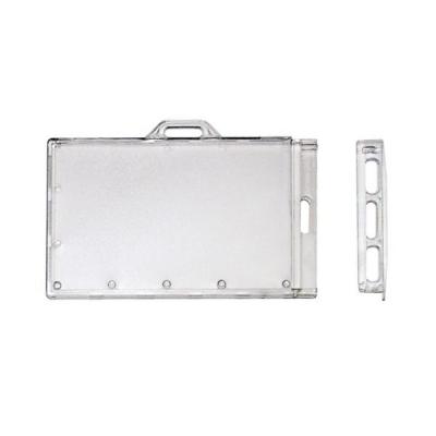 Porte badge rigide transparent sécuritaire fourni avec clé