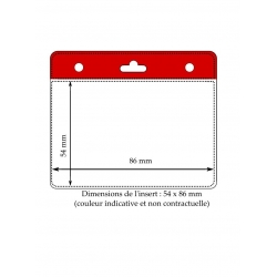 Porte badge rigide 1 face horizontal, pour carte 86x54mm, blanc