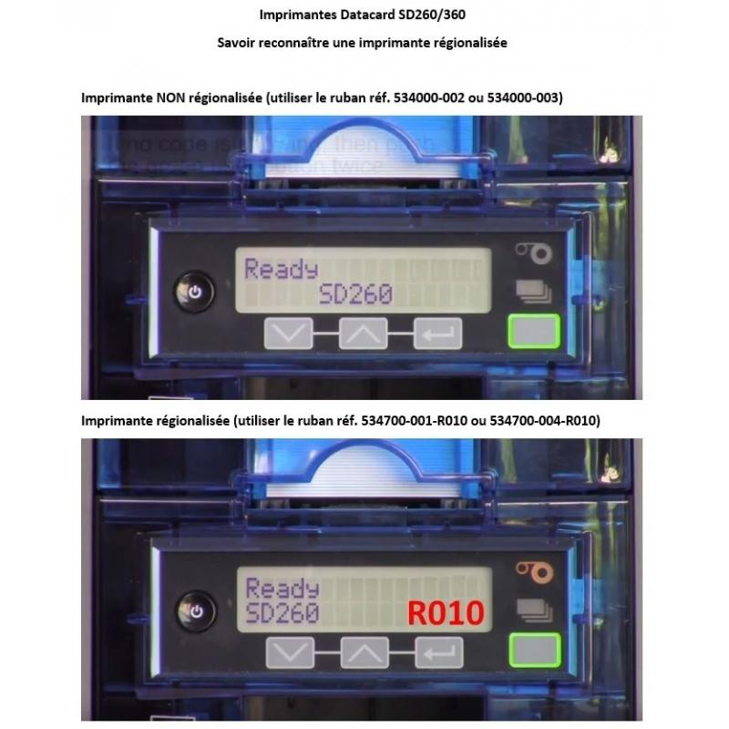 534000-002 - Ruban d'impression couleur Datacard gamme SD/SP