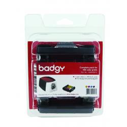 Kit 100 cartes 0.76mm + 1 ruban couleur 100 faces Badgy 2 (100 et 200) CBGP0001C