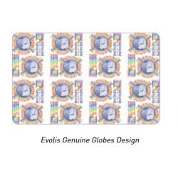 "RVA022NAA - Ruban hologramme ""Globe Secure"" Evolis Zenius/Primacy"