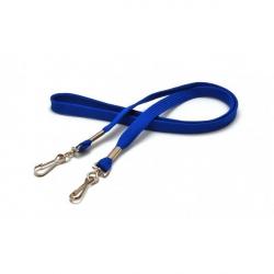cordon12mm deux mousquetons simplex bleu roi