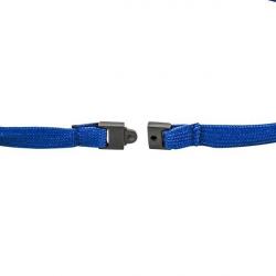 Cordon tour de cou sécuritaire Bleu roi avec mousqueton simplex