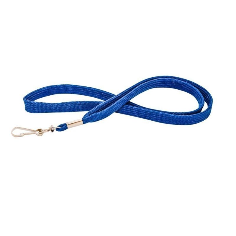Cordon tour de cou CUM10-2 bleu roi avec mousqueton - Cardalis