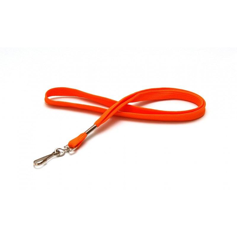 CUM10-5 Cordon tour de cou mousqueton simplex orange - Cardalis