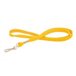 CUM10-9 - Cordon tour de cou jaune avec mousqueton - Cardalis