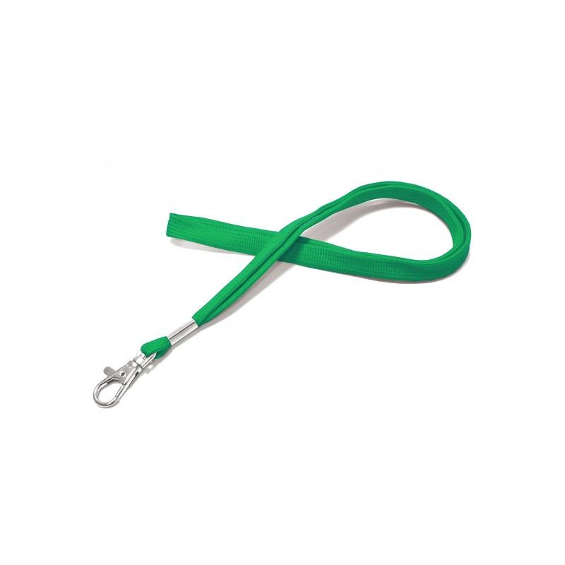 CUMF10-4 - Cordon tour de cou vert mousqueton fermoir – Cardalis