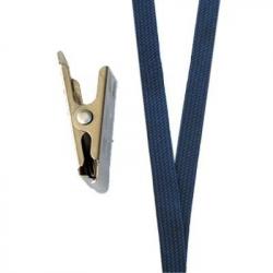 CUC10-3 Cordon tour de cou bleu marine avec pince crocodile