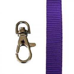 CUM15-PR2 - Cordons tour de cou Premium 15mm, violet - Cardalis