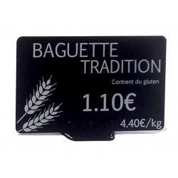 AC000003 - Support plat noir pour étiquette de prix - Cardalis