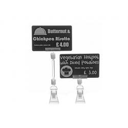 AC000008 - Support à étiquettes de prix, pince 8 cm - Cardalis