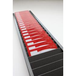 RC003-40 - Casier mural en métal pour 40 cartes PVC - Cardalis
