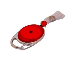 ATTY09-CS6 - Enrouleur prestige rouge, lanière, extension 79 cm