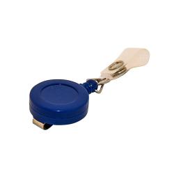 Enrouleur ATTY02-CS2 bleu diamètre 30mm avec lanière - Cardalis
