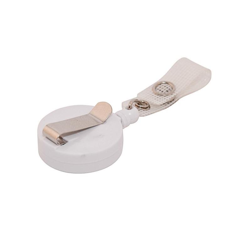 ATTY02-CS8 - Enrouleur blanc + lanière, extension 72cm - Cardalis