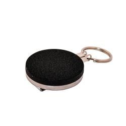 ATTY03-NC-CHA - Enrouleur chrome/noir avec anneau, chaînette métal
