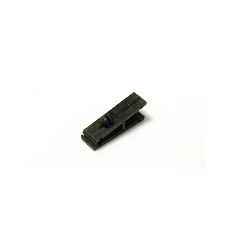 ATT001-1 - Attache clip plastique noir pour badge perforé - Cardalis