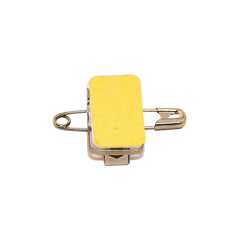ATT008-EP - Pince/épingle adhésive pour badges et porte-badge