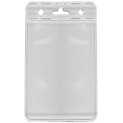 PBS006-V0 - Porte badge souple vertical, 86 x 54 mm - Cardalis