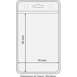 PBS006-V0 - Porte badge souple vertical, 86 x 54 mm - Cardalis