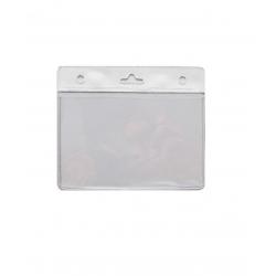 Porte badge souple PBS006-H8 avec bandeau blanc - Cardalis