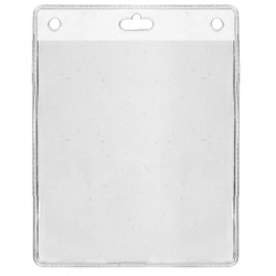 Porte badge souple vertical 86x101mm pour badges - Cardalis