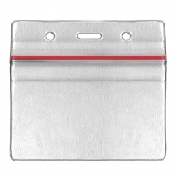 Porte badge souple hermétique transparent  horizontal - Cardalis