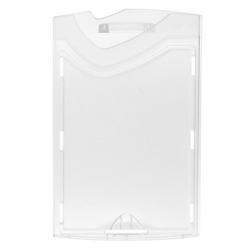 Porte-badge rigide vertical pour cartes PVC 86x54 mm - Cardalis
