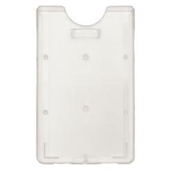 PBR2002-V0 - Porte-badge vertical polycarbonate, dépoli - Cardalis