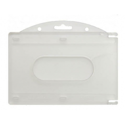 Porte-badge rigide horizontal pour 2 cartes 86x54mm, lot de 100