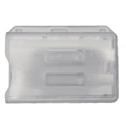 Porte-badge rigide pour 2 cartes PVC avec goupilles d'extraction