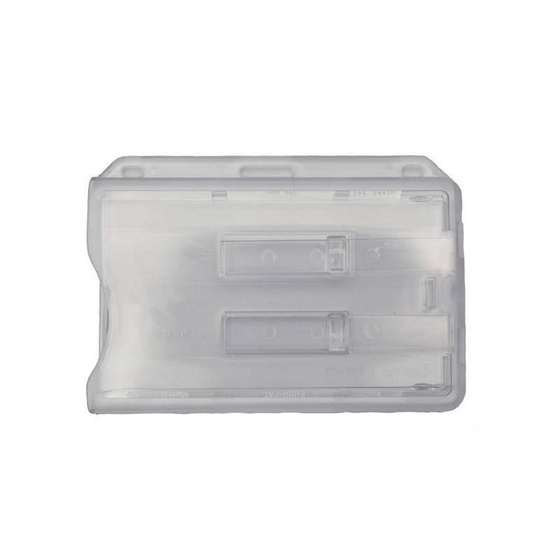 superior quality buy online official supplier Porte-badge rigide pour 2 cartes PVC avec goupilles d'extraction