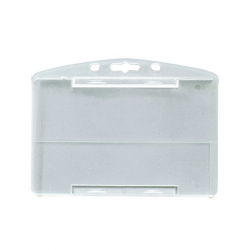 PBR1001-H0 - Porte-badge rigide 1 face, translucide 86 x 54 mm