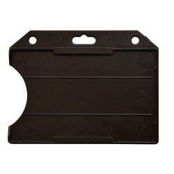 PBR1003-H1 - Porte badge rigide 1 face horizontal noir, 86 x 54 mm