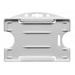 PBR1003-H8 - Porte badge rigide 1 face horizontal, blanc - Cardalis