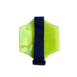 Porte-badge brassard Jaune Fluo, lot de 10 pièces - Cardalis