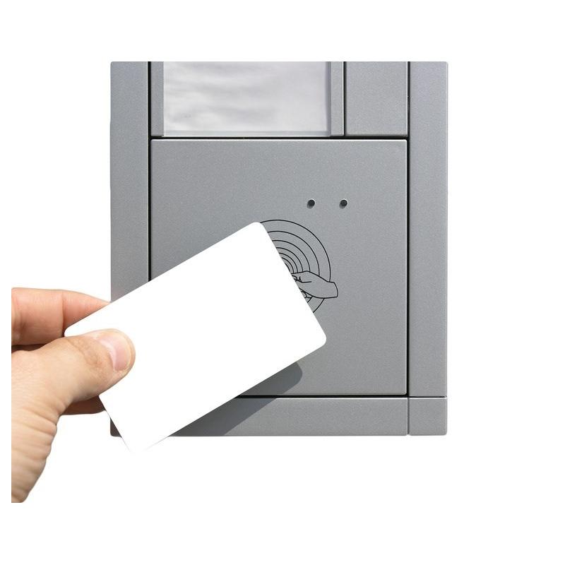 Cartes RFID sans contact 125Khz blanche, puce TK4100 - Cardalis
