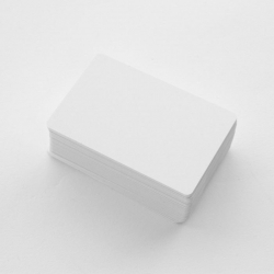 Cartes PVC haute qualité, format 86 x 54 mm, épaisseur 0,76 mm