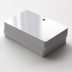 Cartes PVC perforées horizontales, format 86 x 54 mm, ép 0,76 mm