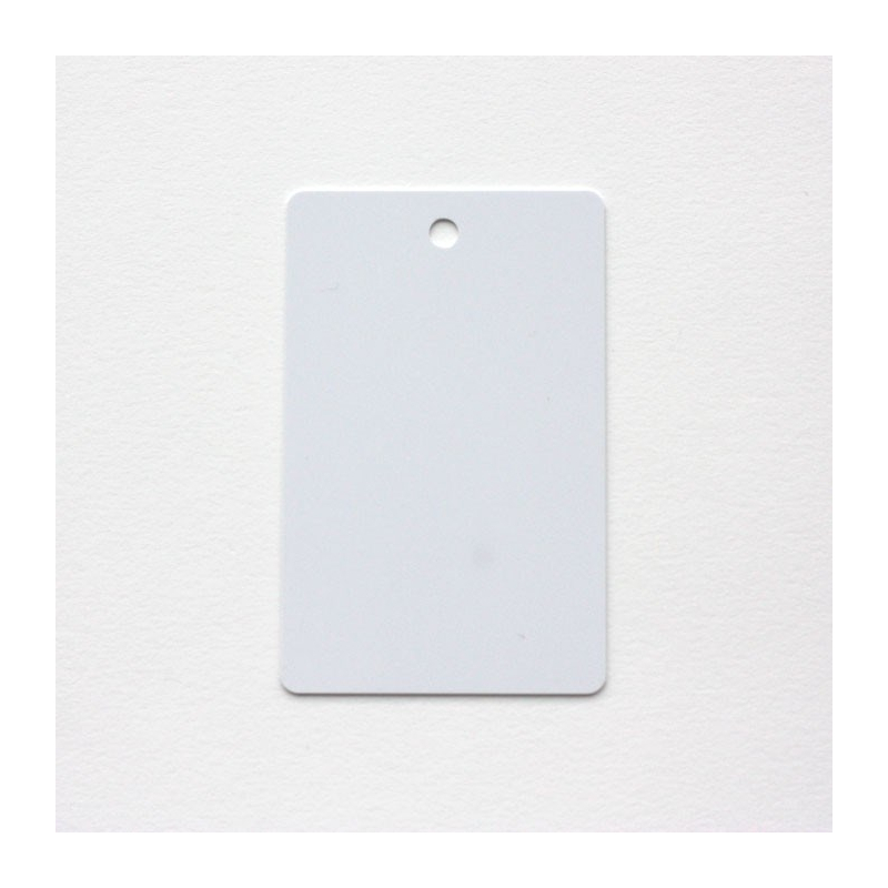 Cartes PVC perforées vertical, format 86x54mm, ép 0,76 mm