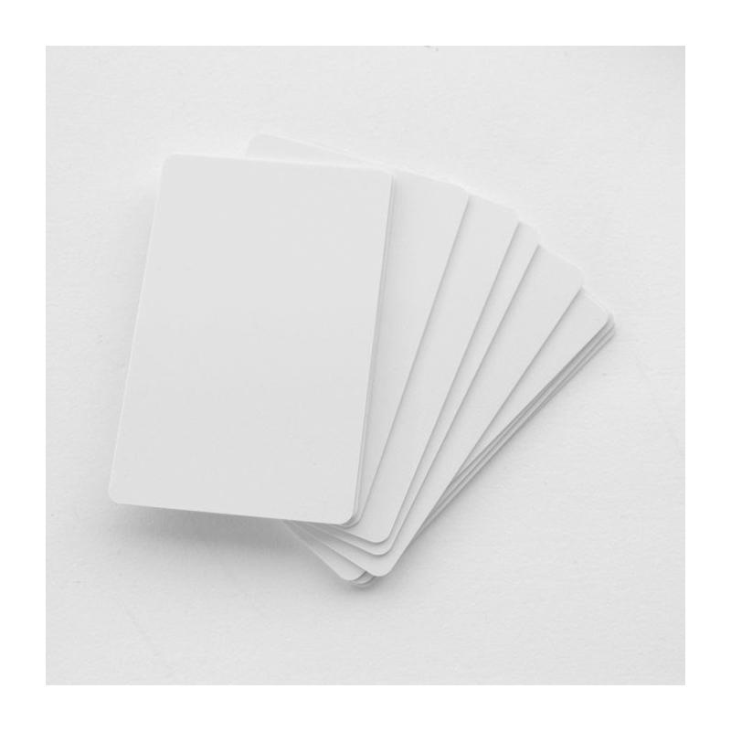 Cartes PVC 86x54mm, épaisseur 0,50mm