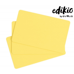 C4101 - Edikio cartes Jaunes, 86x54mm, ép. 0,76 mm, lot de 100