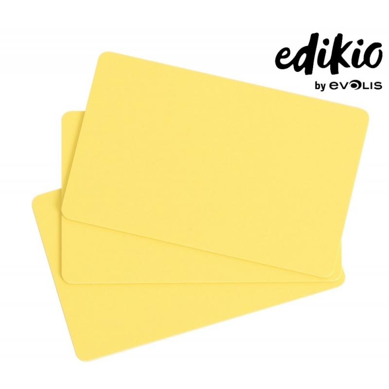 C4101 - Edikio cartes Jaunes, 86x54mm, ép. 0,76 mm, lot de 100