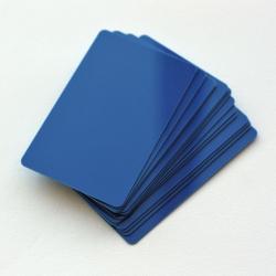 CTM-076-3 - Cartes PVC bleu marine pour imprimantes à badges