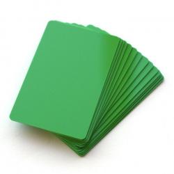 Carte PVC en Vert CTM-076-4 pour création de badges - Cardalis
