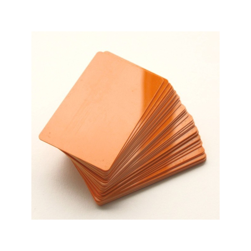 CTM-076-5 - Carte PVC orange pour imprimantes à badges - Cardalis