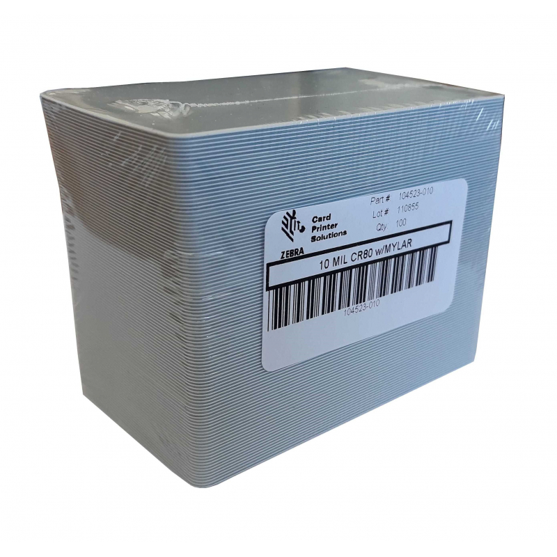104523-010-500 - Cartes PVC adhésives 86x54mm, 0,3mm - Cardalis