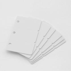 Cartes PVC sécables en 3, format 28,6x54mm, ép 0,76mm, perforées