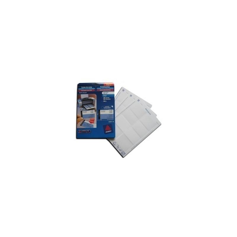 Cartes de visite cartonnées 85x54mm pour imprimante jet d'encre