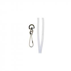 CUM10-8 - Cordon tour de cou blanc avec mousqueton - Cardalis